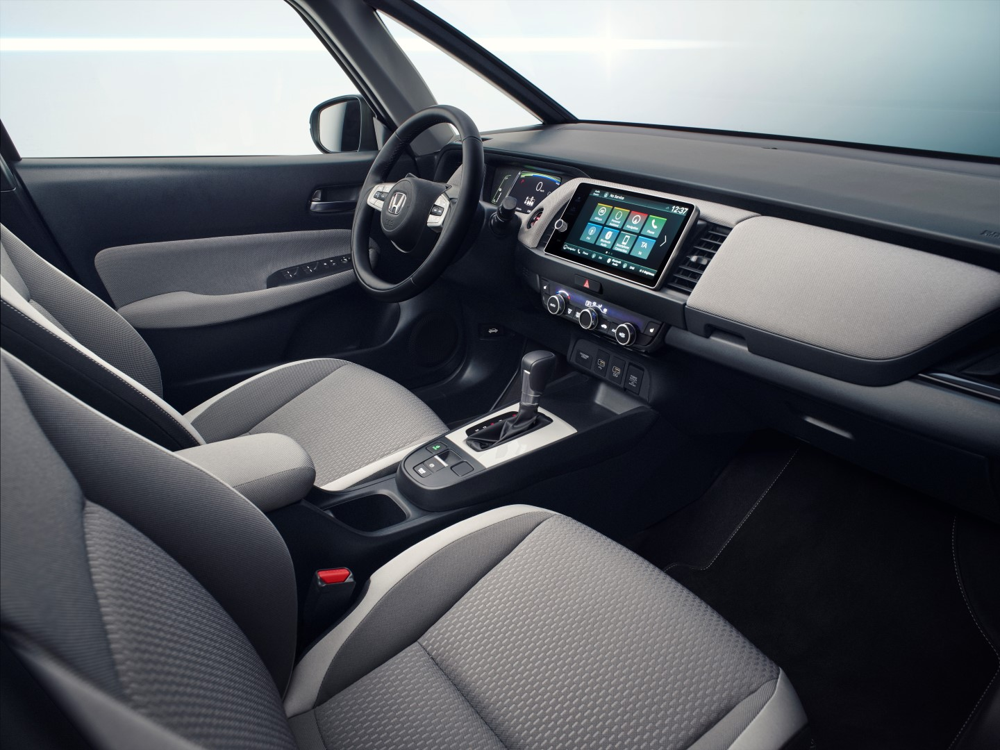 Foto interna lateral do painel do novo Honda Fit 2020 com mudança de design