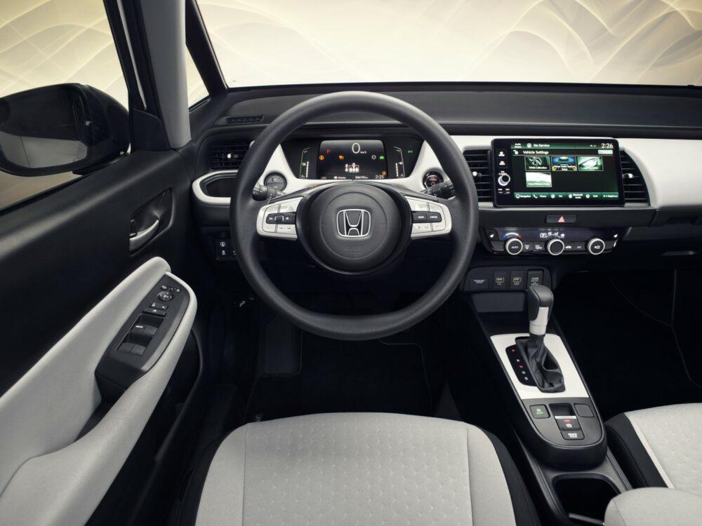 Foto interna do painel do novo Honda Fit 2020 com mudança de design