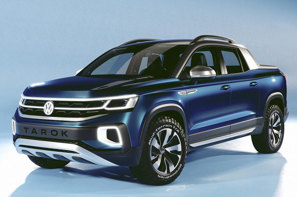Imagem conceito da VW Tarok apresentada no Salão do Automóvel 2018
