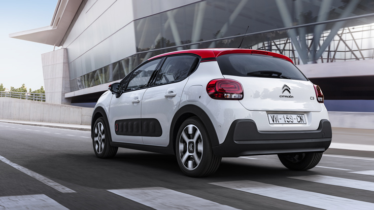 traseira do novo Citroën C3