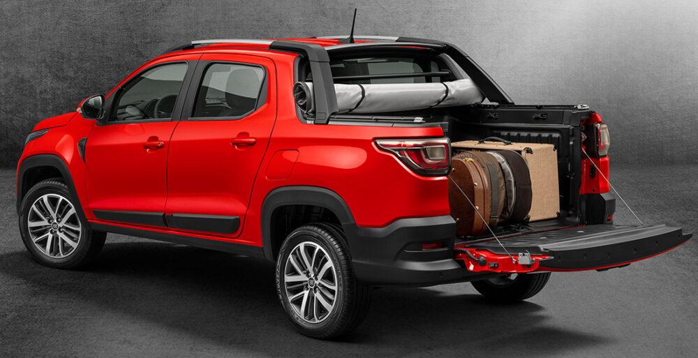 Caçamba da Nova Fiat Strada cabine dupla