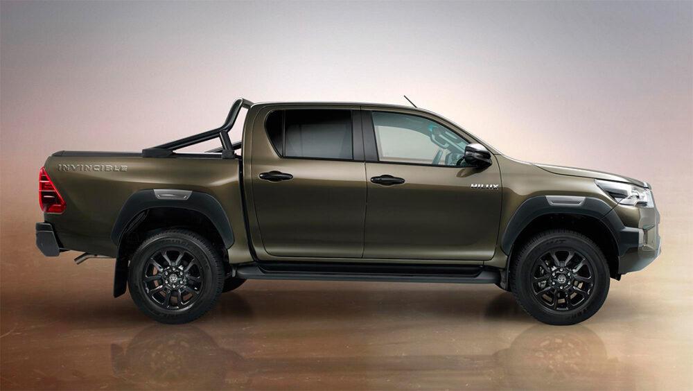 Lateral da Nova Hilux, da Toyota, versão 2021