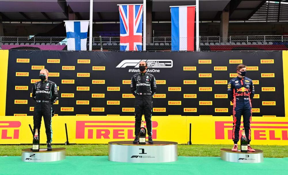 Podio do GP da Estíria de Fórmula 1