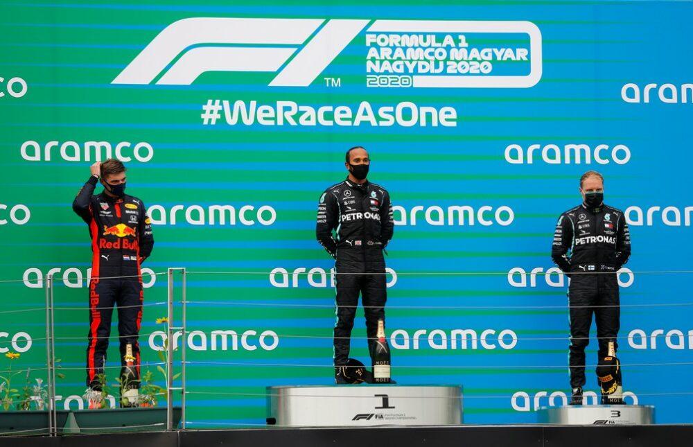 Pódio do GP da Hungria de F1 2020