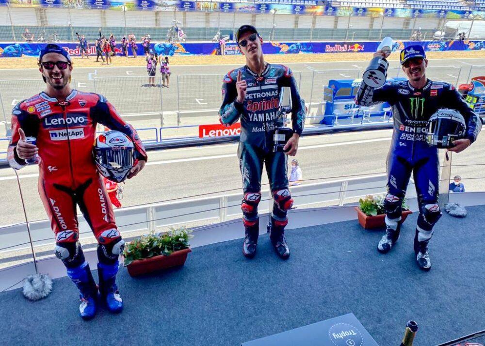 Pódio MotoGP Espanha de 2020