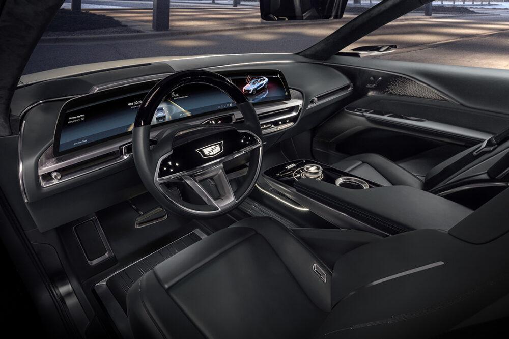 Interior do Cadillac LYRIQ