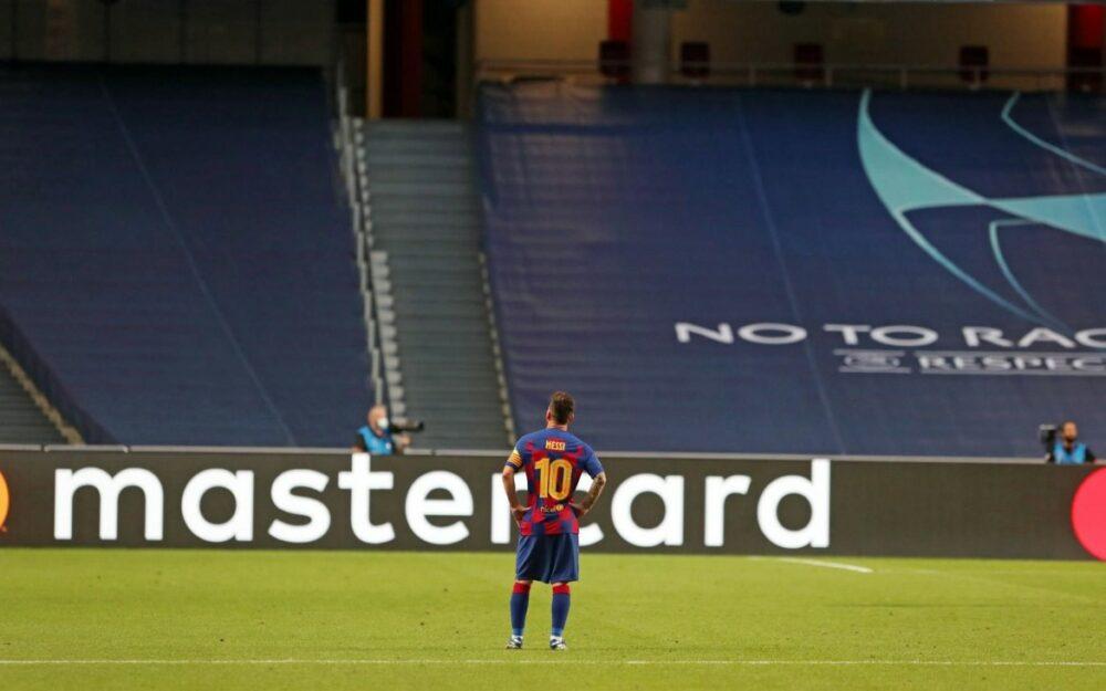 Messi em sua última exibição pelo Barcelona