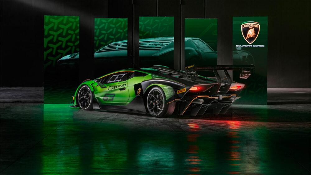 Traseira do Lamborghini Essenza SCV12