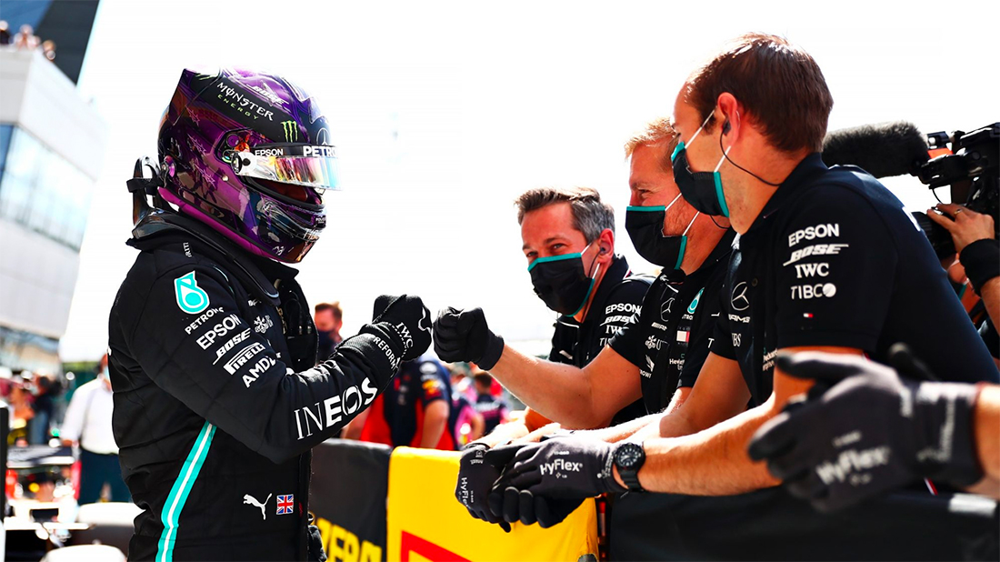 Hamilton pole no GP da Grã Bretanha da F1