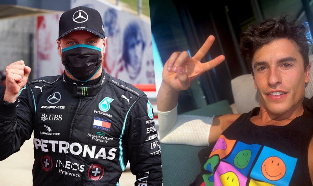 Bottas na F1 e Marc Marquez fora da MotoGP