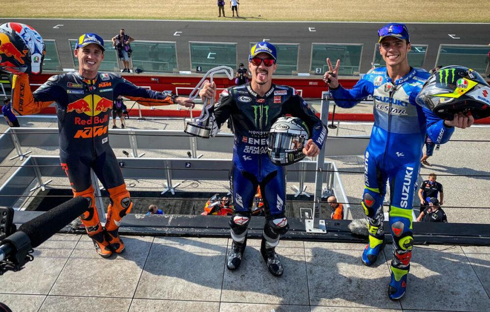 Pódio da MotoGP na Emilia Romagna em 2020