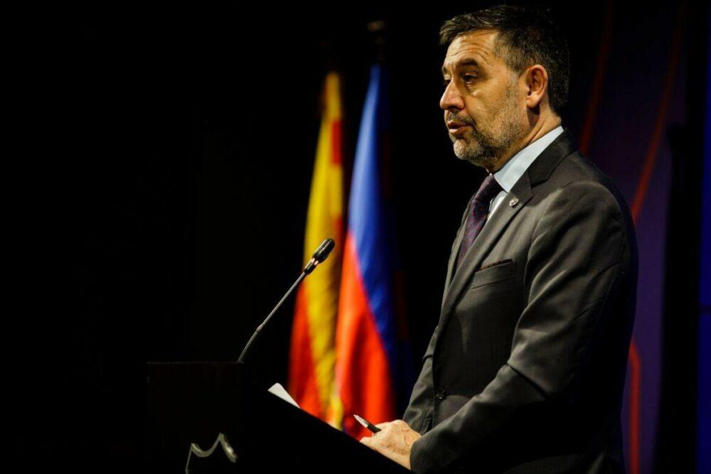 O presidente Josep Maria Bartomeu anunciou a sua demissão do FC Barcelona.