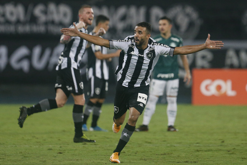 Caio Alexandre. Botafogo x Palmeiras pelo Campeonato Brasileiro no Estadio Nilton Santos. 08 de Outubro de 2020, Rio de Janeiro, RJ, Brasil.