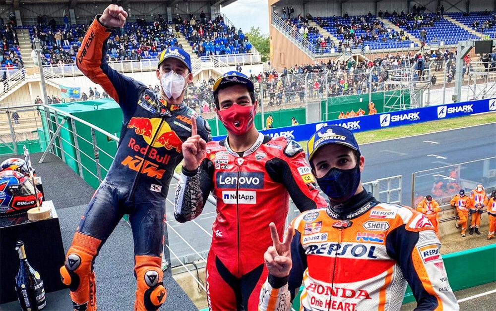 Pódio da MotoGP em Le Mans