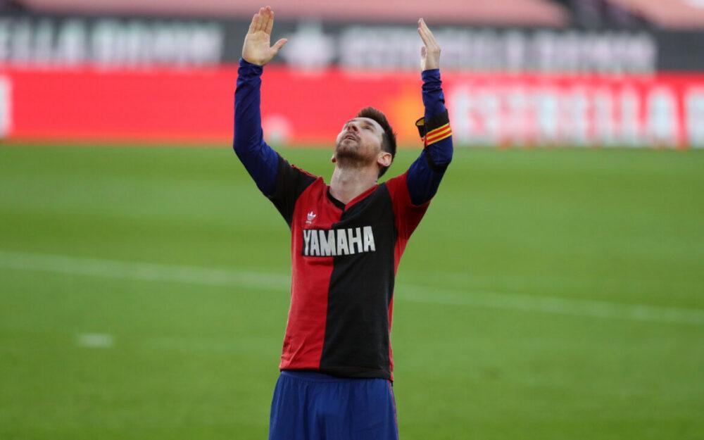 Messi em homenagem a Maradona