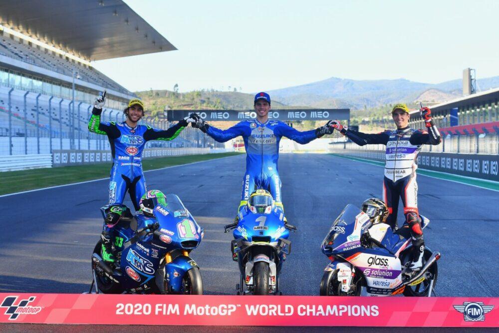 Os campeões mundiais de motovelocidade de 2020