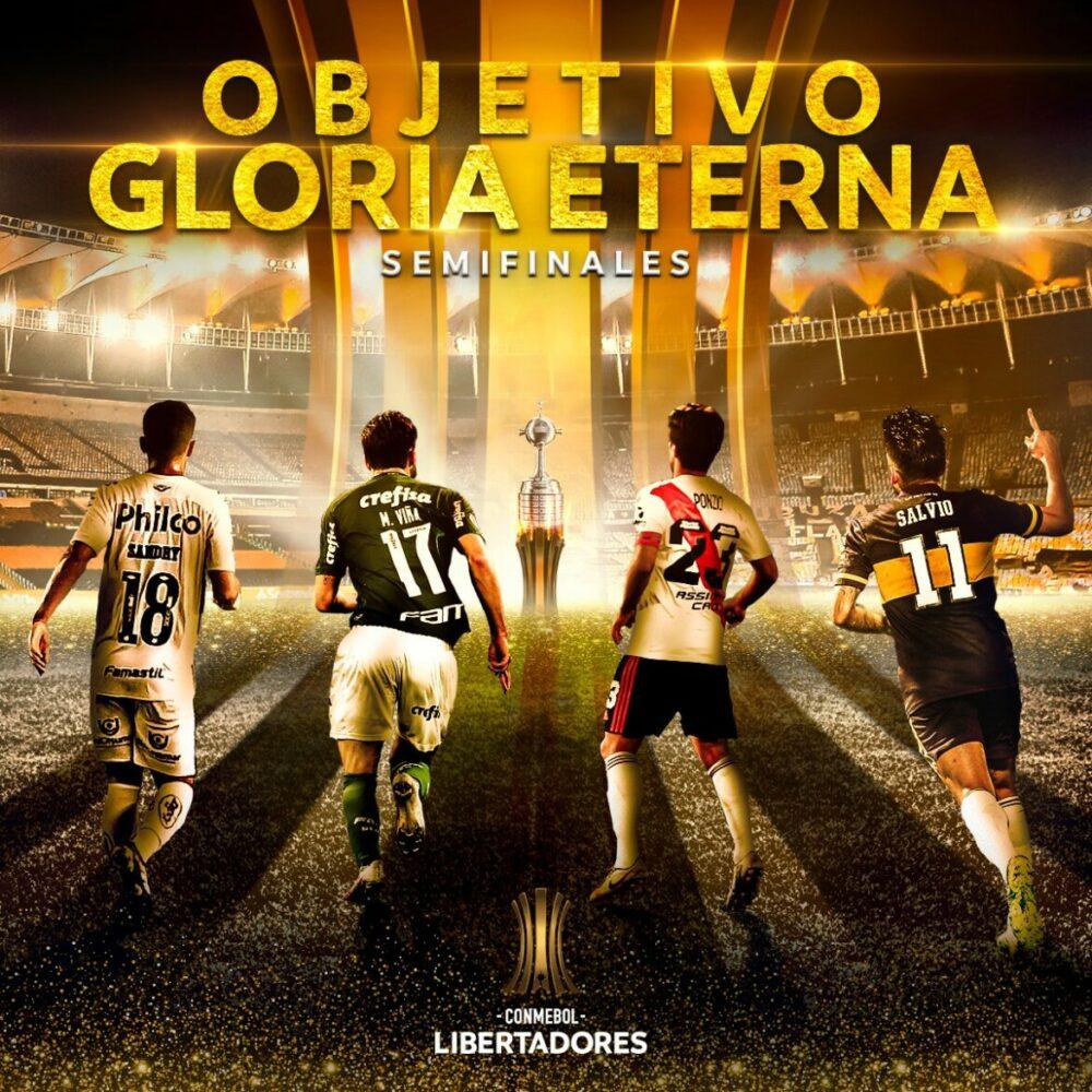 Santos, Palmeiras, River e Boca disputam o título da Libertadores