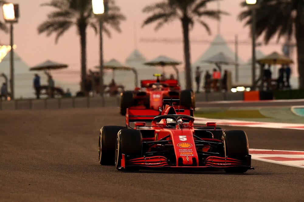 Ferraris no GP de Abu Dhabi de 2020
