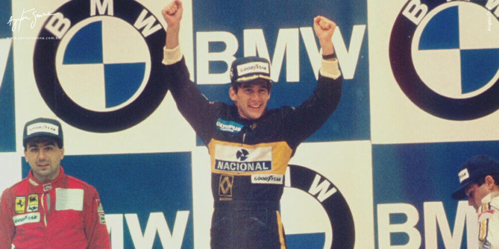 Primeiro pódio de Senna no GP de Portugal de 1985