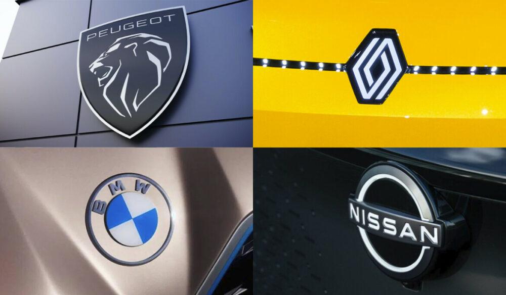 Novos logotipos da indústria automobilística