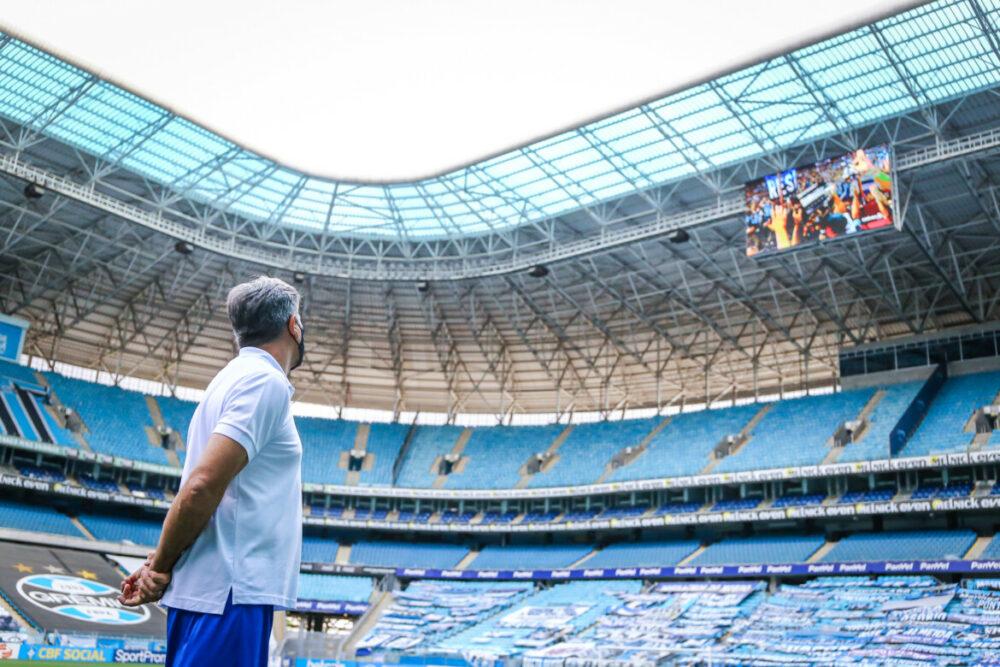 Renato Gaúcho na Arena do Grêmio
