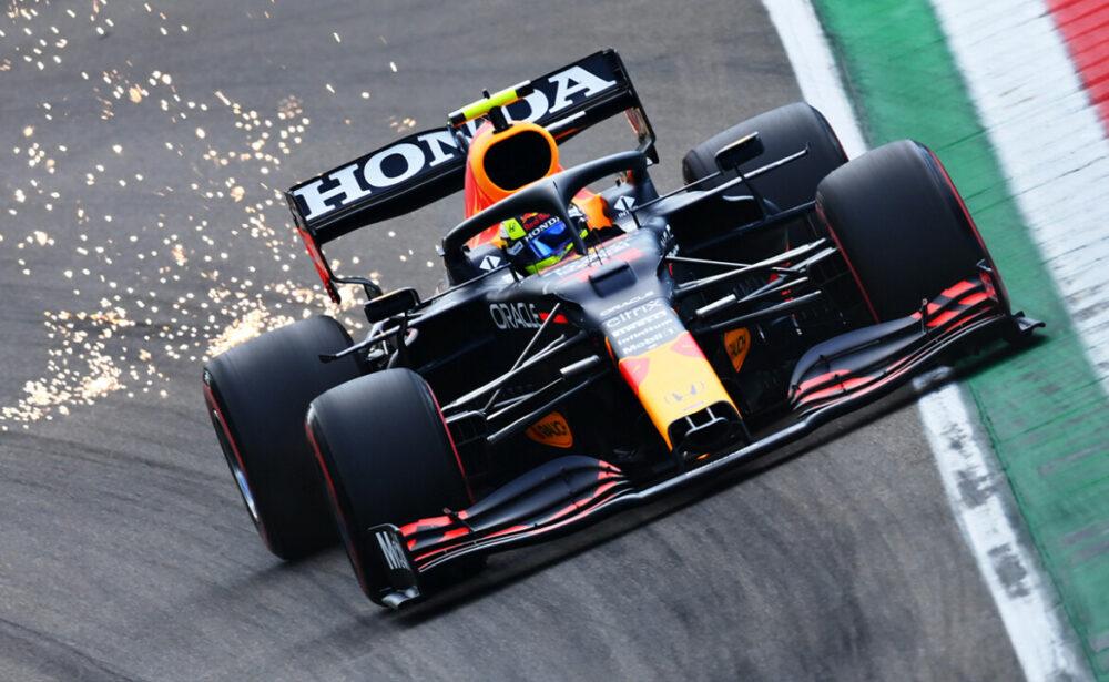 Sergio Perez na classificação do GP da Emilia Romagna