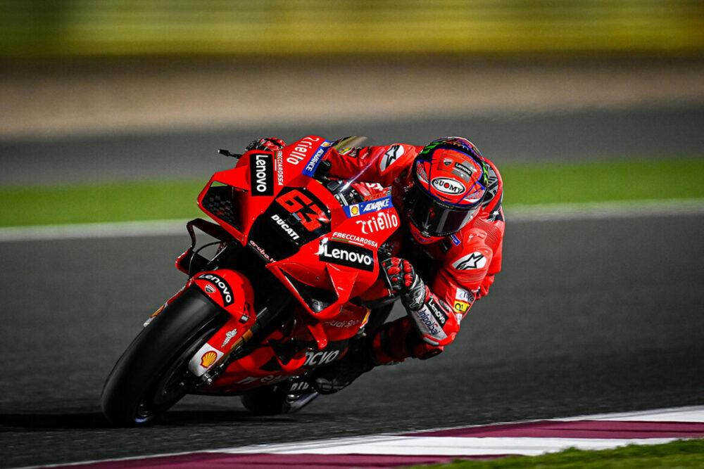 Pecco Bagnaia no GP do Qatar de MotoGP