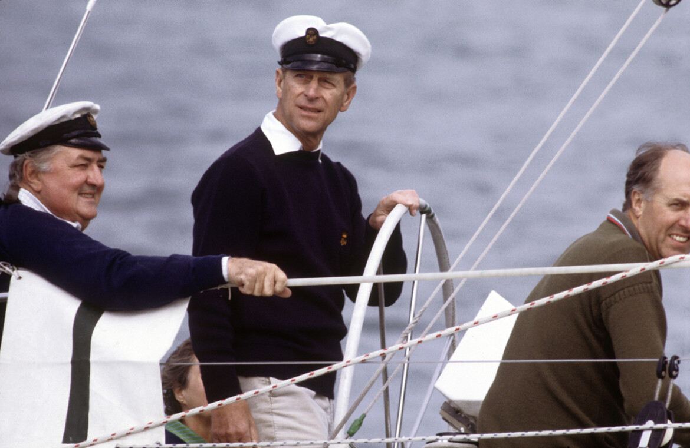 Príncipe Philip na Queen's Cup de 1982