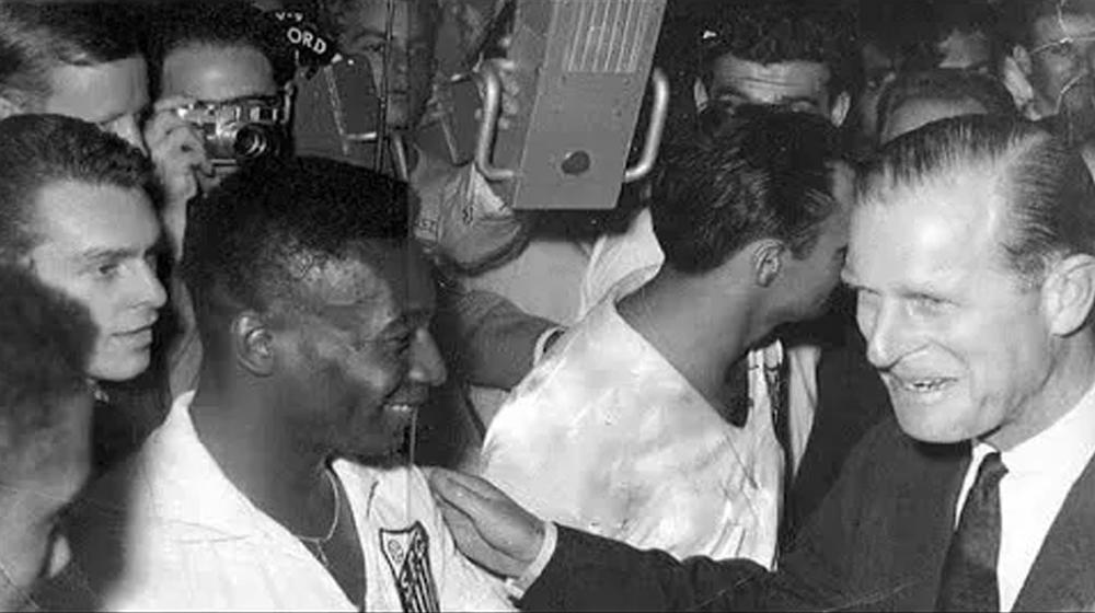 Príncipe Philip e Pelé em 1962