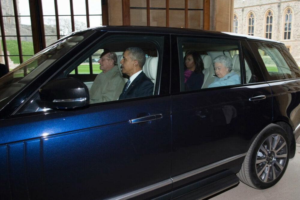 Príncipe Philip, Barack Obama, Michelle Obama e Rainha Elizabeth