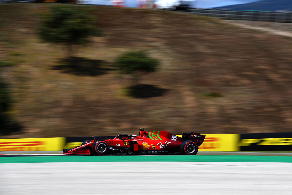 Carlos Sainz na classificação do GP de Portugal de 2021