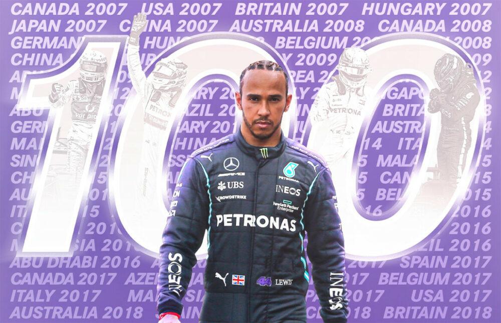 Hamilton faz sua centésima pole position