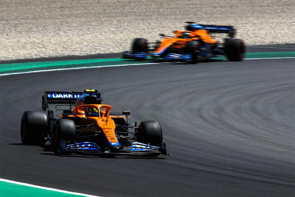 McLarens de Norris e Ricciardo na classificação do GP da Espanha
