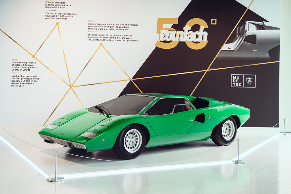 Lamborghini Countach no Museu da Lamborghini