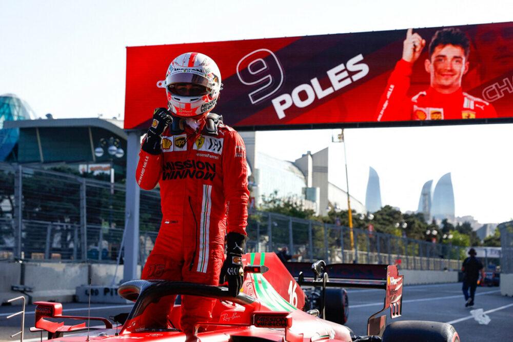 Charles Leclerc é pole position no GP do Azerbaijão 2021