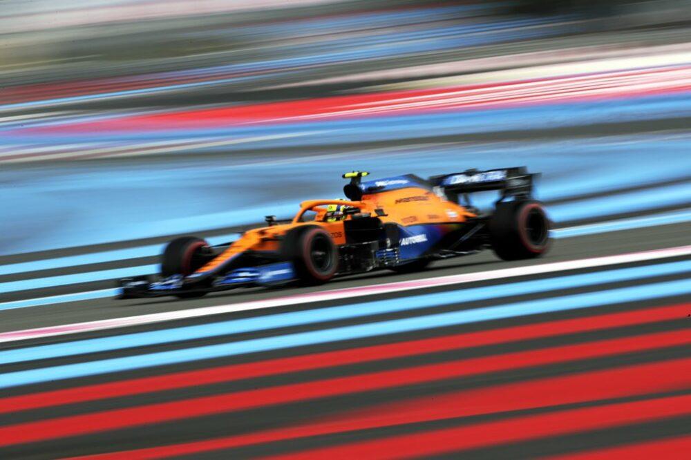 Lando Norris na classificação para o GP da França