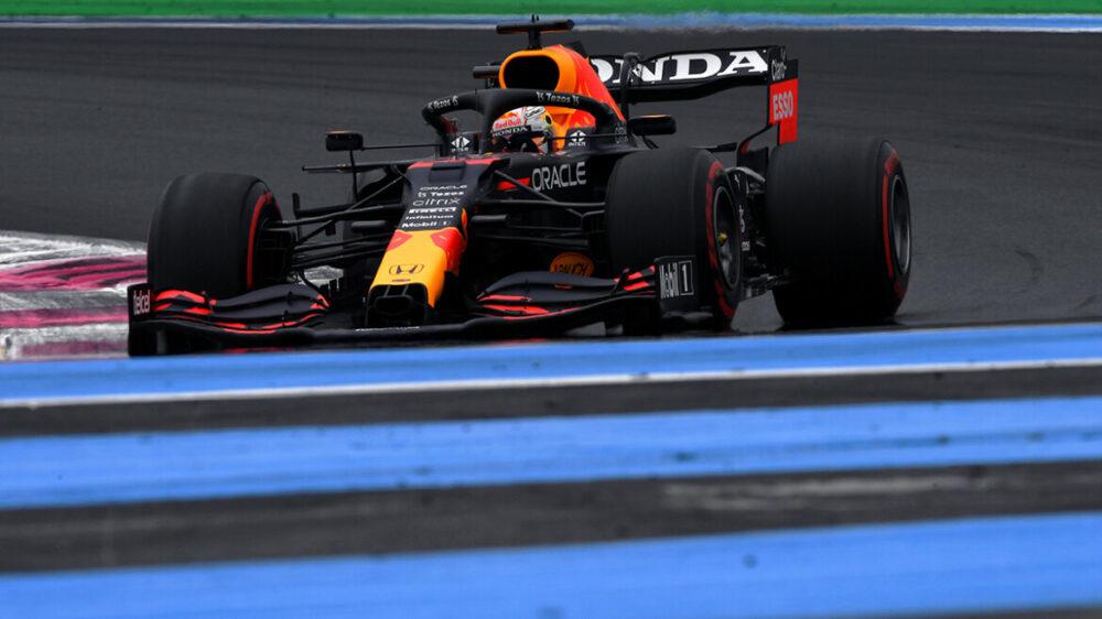 Max Verstappen na classificação para o GP da França