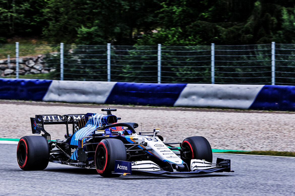 George Russell na classificação do GP da Estíria
