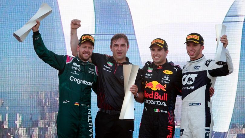 Pódio do GP do Azerbaijão