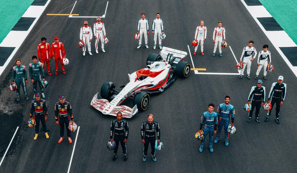 Protótipo do carro da F1 de 2022