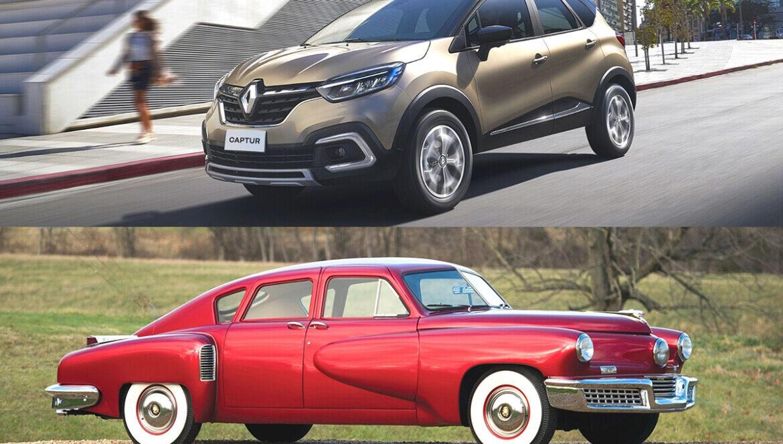 Renault Captur 2022 e Tucker Torpedo 1948