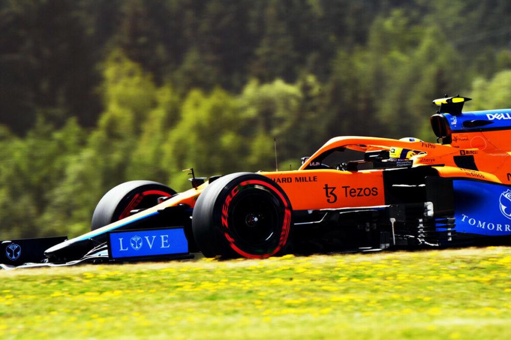 Lando Norris na classificação do GP da Áustria