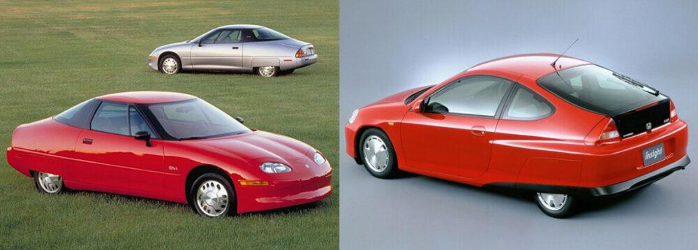 GM EV1 e Honda Insight