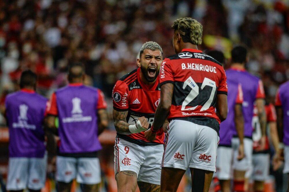 Gabigol e Bruno Henrique decidiram o jogo