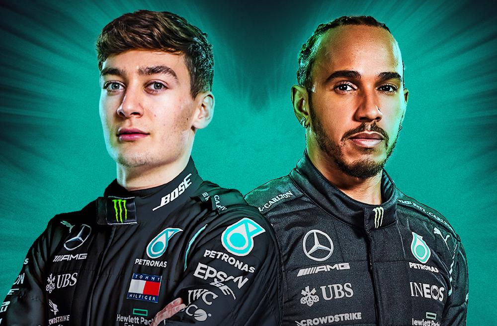 George Russell e Lewis Hamilton serão a dupla da Mercedes para 2022