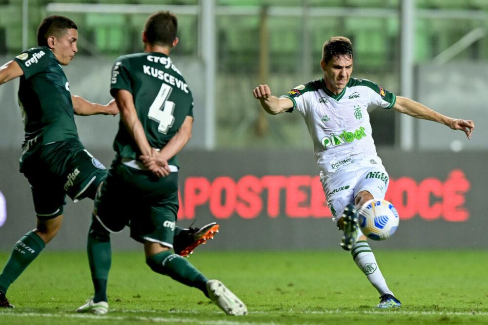 Alê durante duelo entre América x Palmeiras-SP pela 24ª rodada do Campeonato Brasileiro